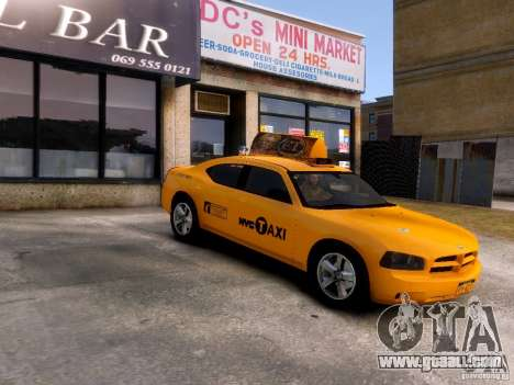 Dodge Charger NYC Taxi V.1.8 for GTA 4 inner view
