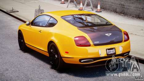 Bentley Continental SS 2010 ASI Gold [EPM] for GTA 4 side view