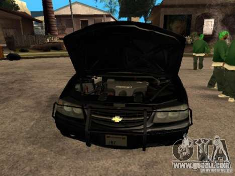 Chevrolet Impala Undercover for GTA San Andreas right view