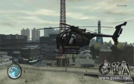 AH-6 Little Bird AcuDigital Camo for GTA 4 back left view
