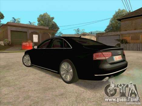 Audi A8 2010 for GTA San Andreas back left view
