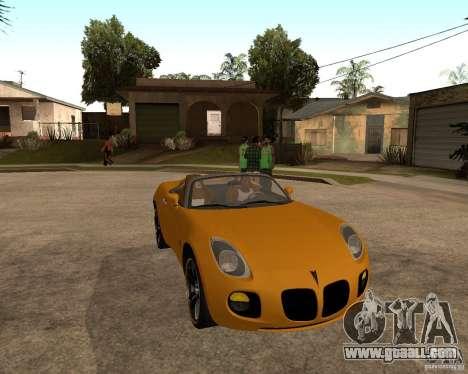Pontiac Solstice GXP for GTA San Andreas left view