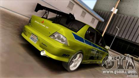 Mitsubishi Lancer Evo VII 2F2F for GTA San Andreas