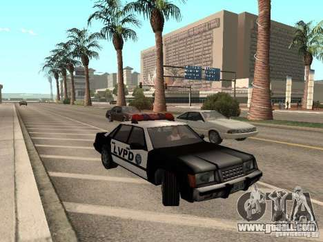 LVPD Police Car for GTA San Andreas left view