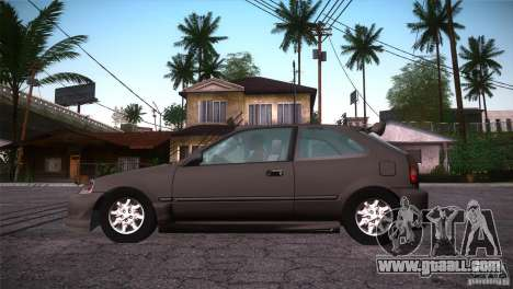 Honda Civic Tuneable for GTA San Andreas upper view