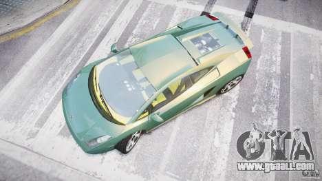 Lamborghini Gallardo for GTA 4 right view