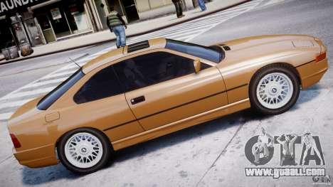 BMW 850i E31 1989-1994 for GTA 4 left view