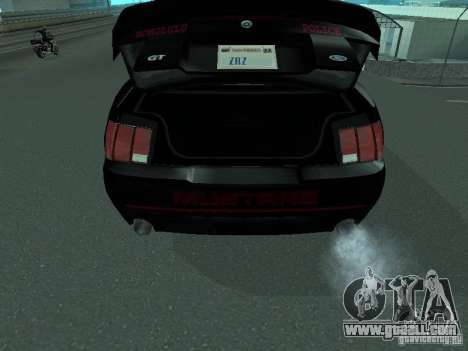 Ford Mustang GT Police for GTA San Andreas back view