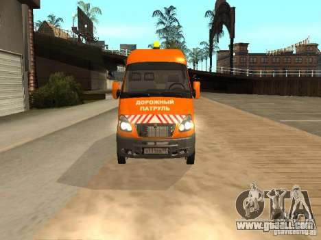 Gazelle 2705 highway patrol for GTA San Andreas back left view