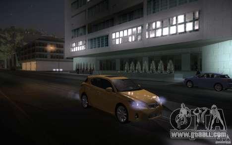 Lexus CT200H 2011 for GTA San Andreas inner view