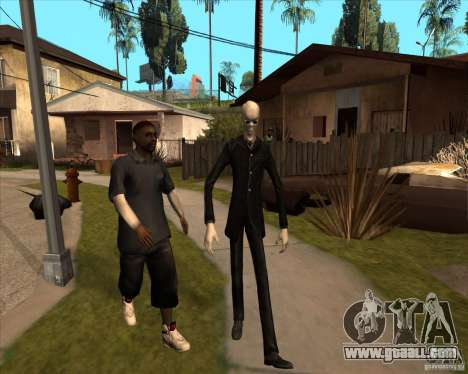 Slender in dark glasses for GTA San Andreas