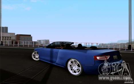 Audi S5 Cabriolet 2010 for GTA San Andreas left view