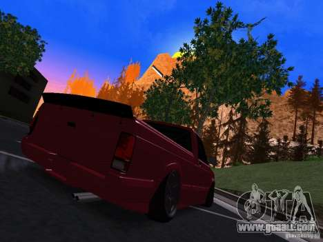 GMC Syclone Drift for GTA San Andreas back left view