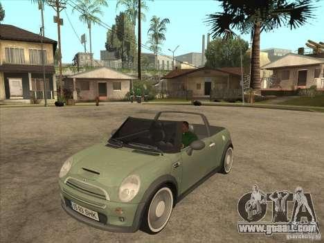 Mini Cooper S Cabrio for GTA San Andreas left view