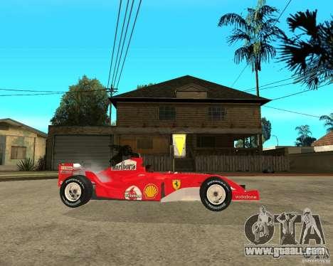 Ferrari F1 for GTA San Andreas right view