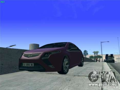 Opel Ampera 2012 for GTA San Andreas inner view