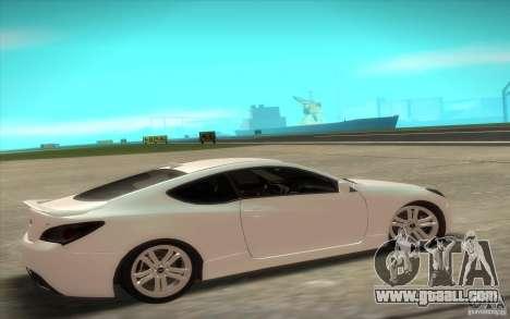 Hyundai Genesis 3.8 Coupe for GTA San Andreas back left view