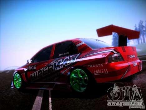 Mitsubishi Lancer Evolution 9 Hypermax for GTA San Andreas left view