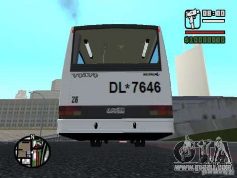 CAIO Padron Vituria Volvo B58 for GTA San Andreas back view
