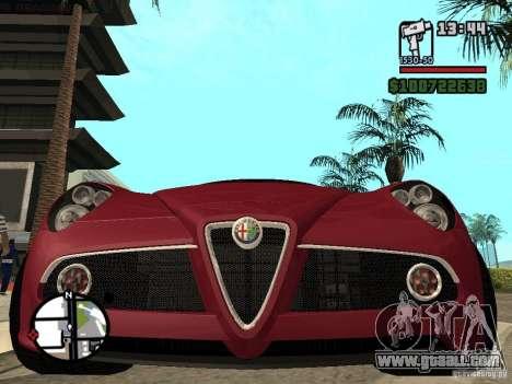 Alfa Romeo 8C Competizione v.2.0 for GTA San Andreas right view