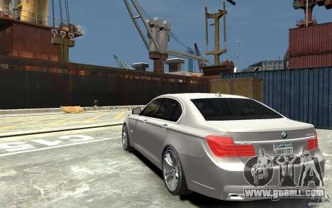 BMW 750i F01 v3 for GTA 4 back left view