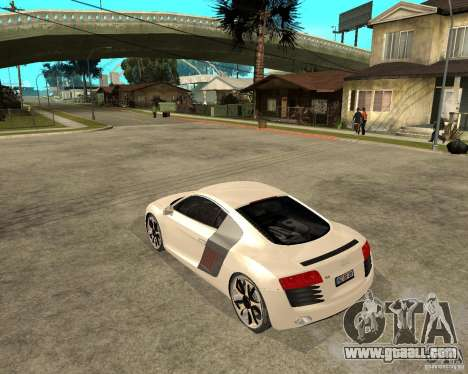 Audi R8 light tunable for GTA San Andreas left view