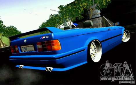 BMW E30 M3 Cabrio for GTA San Andreas left view