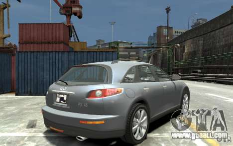 Infiniti FX45 for GTA 4 right view