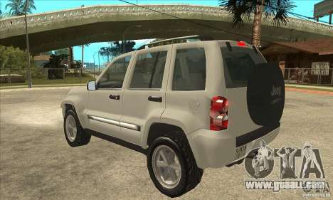 Jeep Liberty 2007 Final for GTA San Andreas back left view