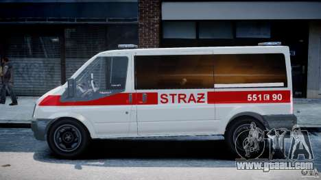 Ford Transit Polish Firetruck [ELS] for GTA 4 left view