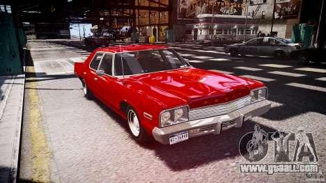 Dodge Monaco 1974 stok rims for GTA 4 back view