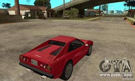 Ferrari 308 GTS Quattrovalvole for GTA San Andreas right view