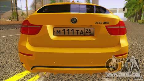 BMW X6M E71 v2 for GTA San Andreas back view