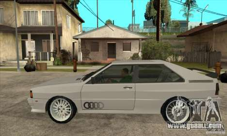 Audi Quattro for GTA San Andreas left view