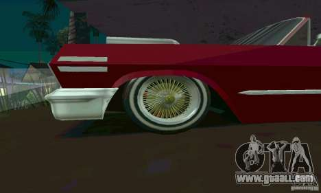 Chevrolet Impala 1963 Lowrider Charged for GTA San Andreas left view