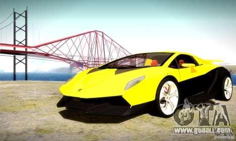Lamborghini Sesto Elemento for GTA San Andreas bottom view