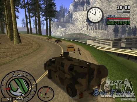Australian Bushmaster for GTA San Andreas back view