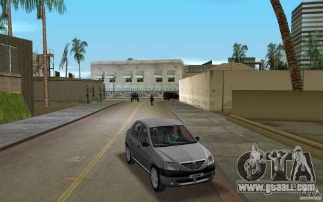 Dacia Logan 1.6 MPI for GTA Vice City back view