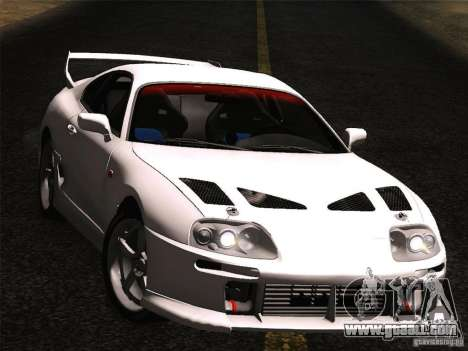 Toyota Supra TRD3000GT v2 for GTA San Andreas right view