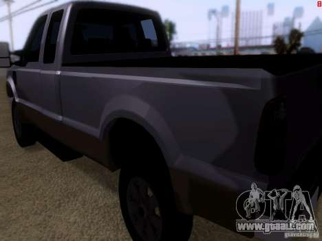 Ford F350 Super Dute for GTA San Andreas right view