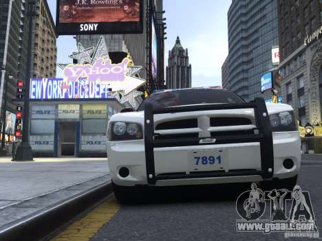 Dodge Charger NYPD for GTA 4 left view