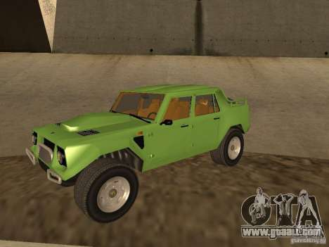 Lamborghini LM-002 v2 for GTA San Andreas inner view