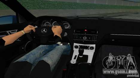 Mercedes-Benz C63 AMG 2010 for GTA Vice City back left view
