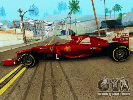 Ferrari F2012 for GTA San Andreas left view