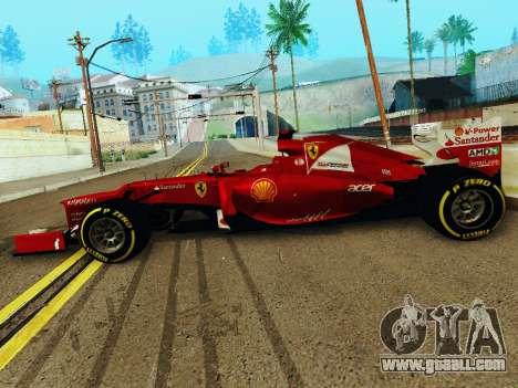 Ferrari F2012 for GTA San Andreas left view
