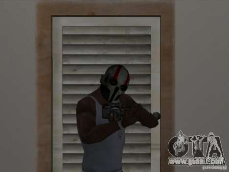 Army of Two Mask Skull for GTA San Andreas second screenshot