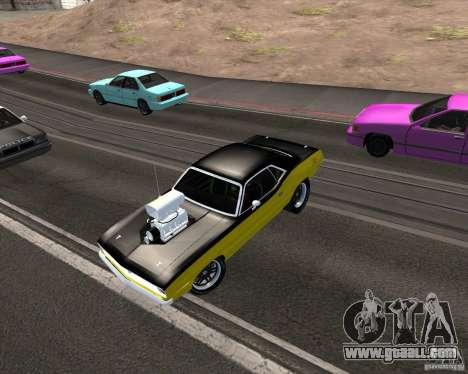 Plymouth Hemi Cuda 440 for GTA San Andreas bottom view