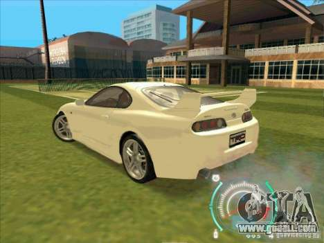 Toyota Supra from 2 Fast 2 Furious for GTA San Andreas right view