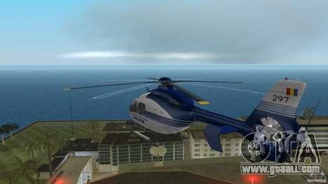 Eurocopter Ec-135 Politia Romana for GTA Vice City back view
