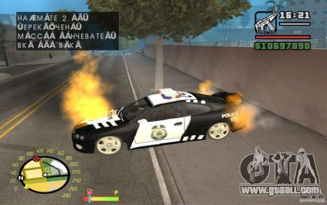 Burning car in GTA 4 for GTA San Andreas second screenshot